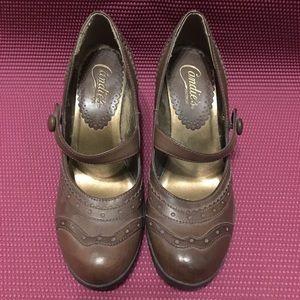 Women's brown Candies Vintage Heels